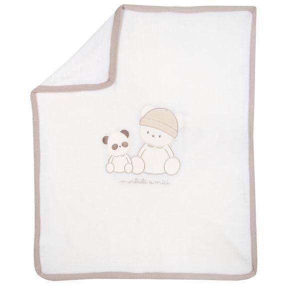 Плед вязаный Chicco Smart bear, арт. 090.05113.030, цвет Белый
