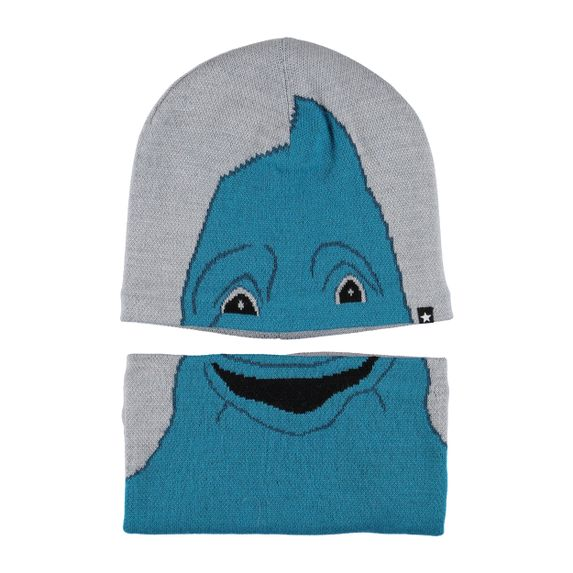 Комплект Molo Kleo Grey melange: шапка и шарф-снуд, арт. 7W19S309.1046, цвет Серый