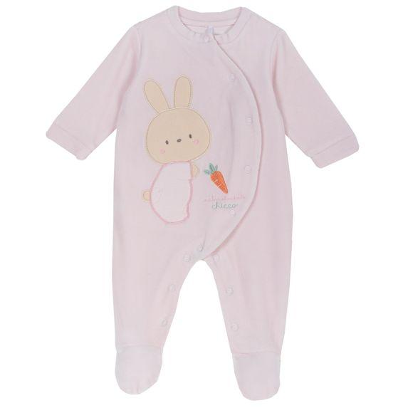 Комбинезон велюровый Chicco Rabbit, арт. 090.02035.011, цвет Розовый