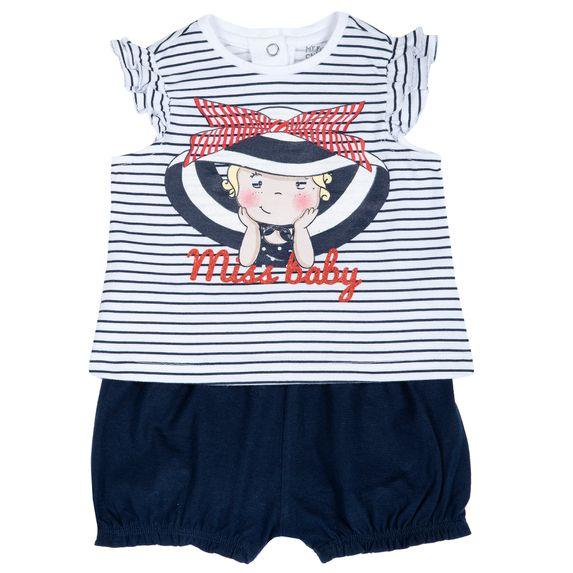 Костюм Chicco Miss baby: майка и шорты, арт. 090.76372.038, цвет Синий