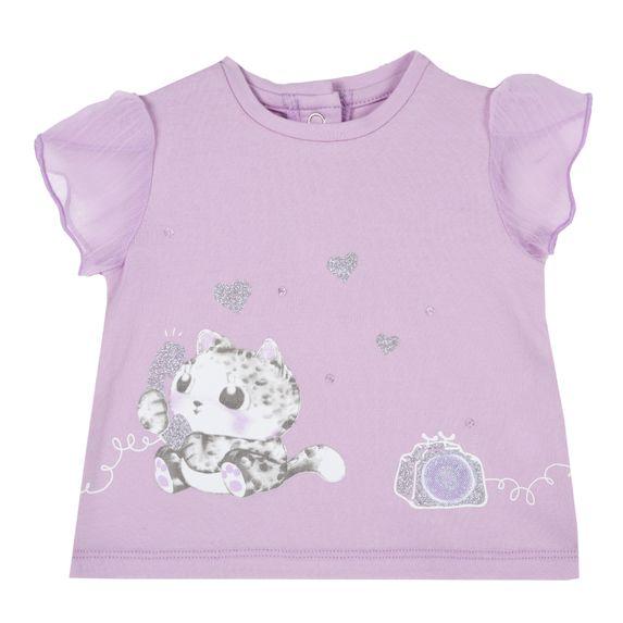 Футболка Chicco Pussycat lilac, арт. 090.06549.012, цвет Сиреневый