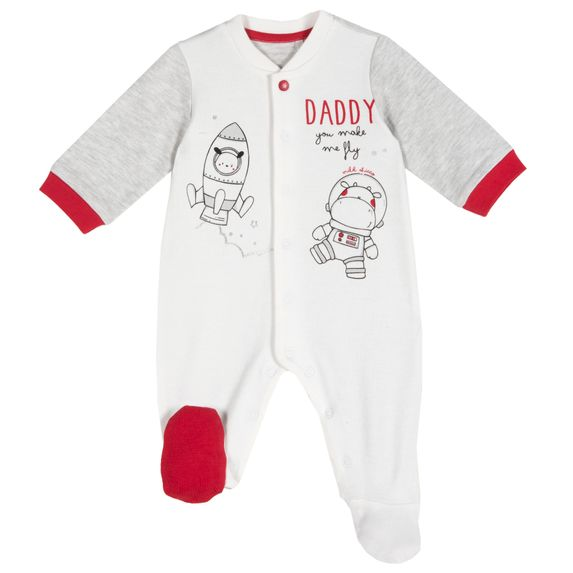 Комбинезон Chicco Planet Daddy, арт. 090.21574.091, цвет Белый