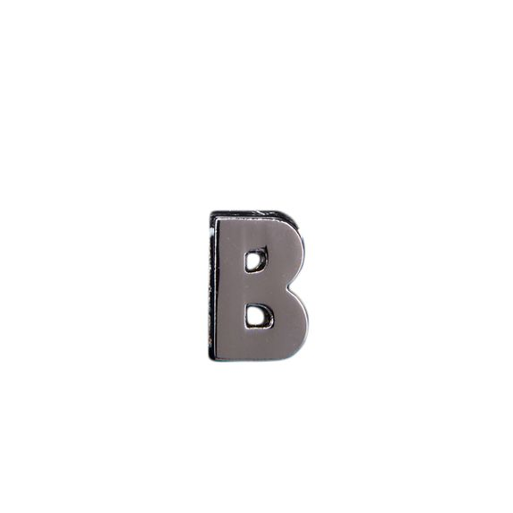 "Эмодзи Tinto ""Буква B"", арт. GMLT00912, цвет Серебряный"