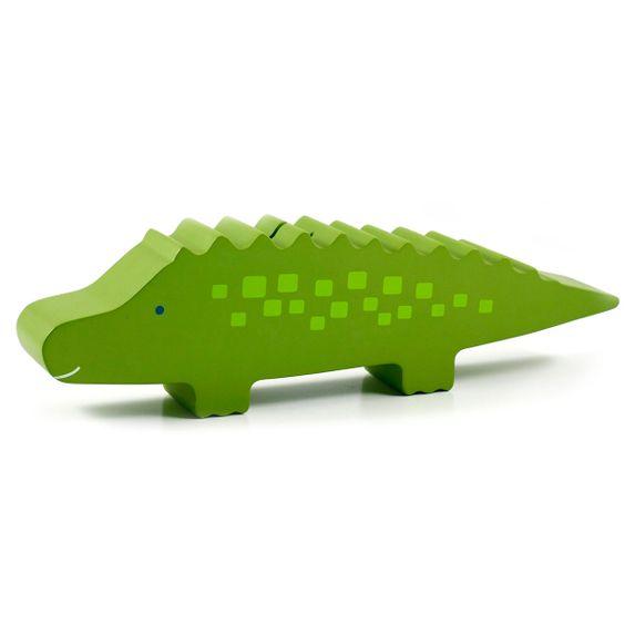 """Деревянная копилка Pearhead """"Крокодил"""", арт. 40005, цвет Салатовый"""