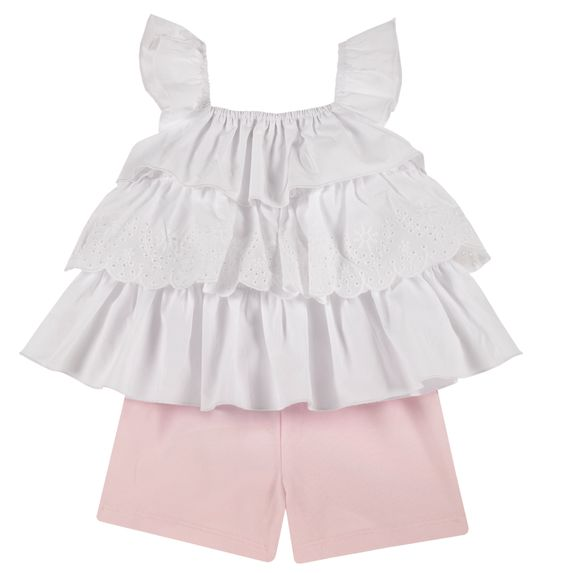 Костюм Chicco Esmeralda: блузка и шорты, арт. 090.76424.011, цвет Белый