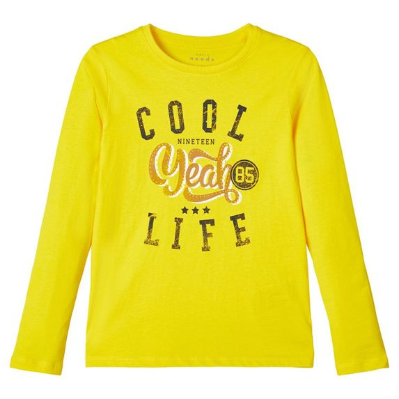 Реглан Name it Cool life, арт. 203.13171462.EYEL, цвет Желтый