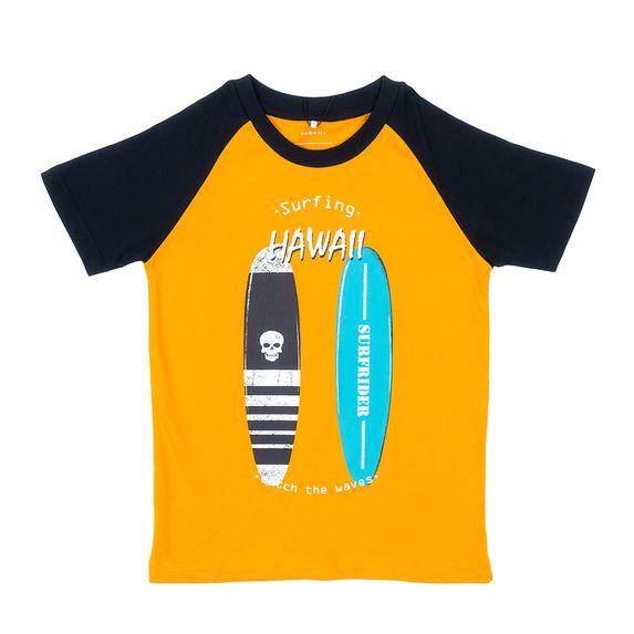 Футболка Name it Hawaii, арт. 13175088.CYEL, цвет Оранжевый