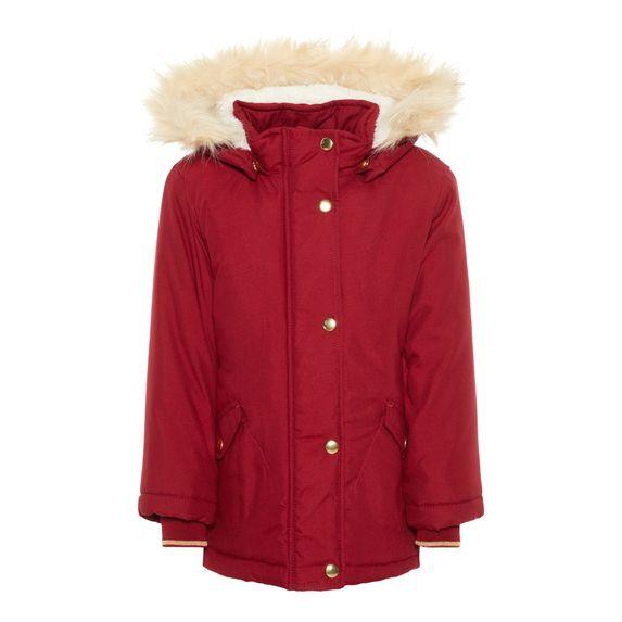 Куртка-парка Name it Bridget (красная), арт. 193.13167886.BRED, цвет Красный