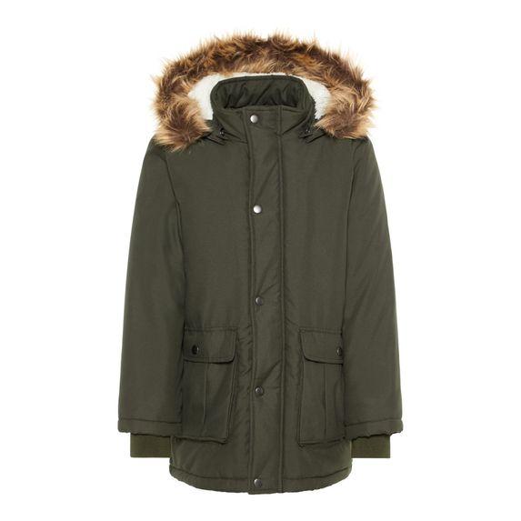 Куртка-парка Name it Travis, арт. 193.13167917.ROSI, цвет Оливковый