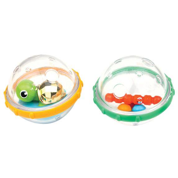 """Игрушка для ванной Munchkin """"Плавающие пузырьки"""", арт. 011584, цвет Зеленый с желтым"""