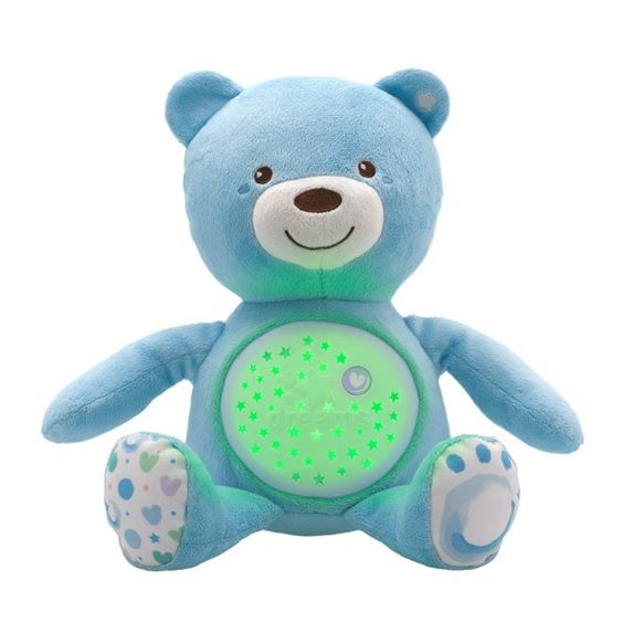 "Игрушка музыкальная Chicco ""Медвежонок"", арт. 08015, цвет Голубой"
