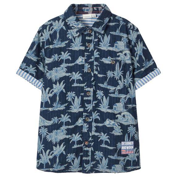 Рубашка Name it Palm , арт. 201.13175065.DSAP, цвет Синий