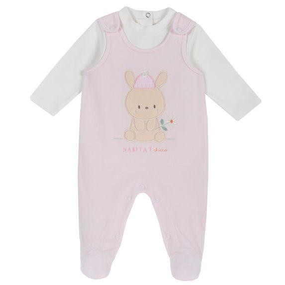 Комплект Chicco Rabbit: боди и полукомбинезон, арт. 090.77452.011, цвет Розовый